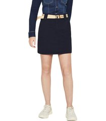 falda edc elastica con cinturón azul marino esprit