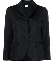 aspesi short cotton poplin blazer - black