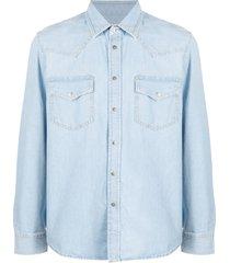 diesel western denim shirt - blue