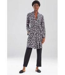 ombre leopard sleep/lounge/bath wrap/robe, women's, grey, size s, n natori