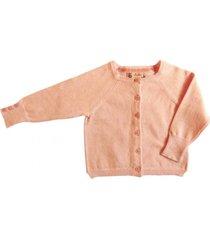 chaleco abotonado rosado pumucki