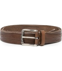 brunello cucinelli mauhy distressed-effect belt - brown
