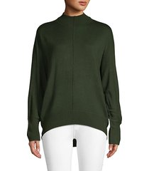 batwing-sleeve seamed sweater