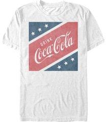 coca-cola men's stars and stripes square short sleeve t-shirt