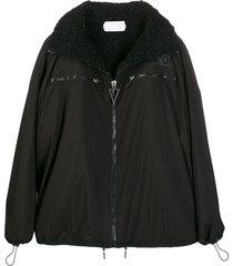 no ka' oi fleece-lined oversized jacket - black