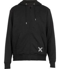 kenzo cotton hoodie with logo