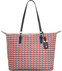tommy hilfiger julia cube zippered tote