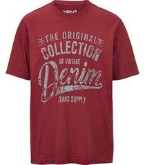 t-shirt men plus rood