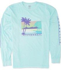billabong men's coastline logo graphic t-shirt