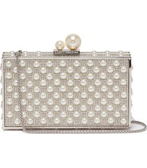 'clara' faux pearl strass box clutch