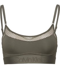 unlined bralette lingerie bras & tops bra without wire grön calvin klein