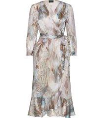 3391 - rummer jurk knielengte sand