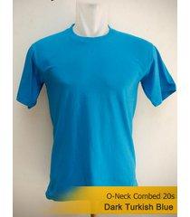 best men's classic o-neck plain turkish blue tshirt 100% cotton blank tee