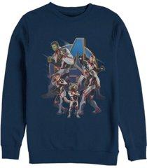 marvel men's avengers endgame suit group, crewneck fleece