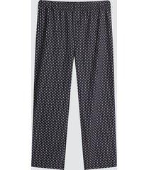 pantalon para hombre mini print color negro, talla l