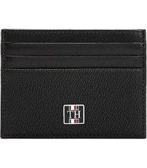tommy hilfiger men's monogram credit card holder black monogram -