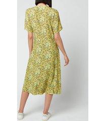 a.p.c. women's jayla dress - yellow - fr 36/uk 8