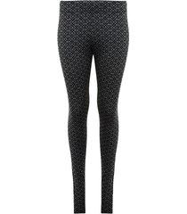 legging formal con estampado color negro, talla 6