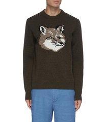 fox head wool sweatshirt