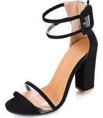 sandalias de las mujeres de la plataforma del verano de la moda de la hebilla de la torre hueca de la explosión del verano