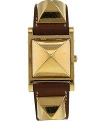 hermès 2000s pre-owned médor wrist watch - gold