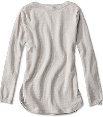 cotton/cashmere/silk easy tunic sweater, oatmeal, small
