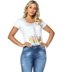 t-shirt daniela cristina gola u profundo 05 602dc10313 branco pp - feminino
