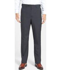 men's berle self sizer waist tropical weight flat front classic fit dress pants, size 32 x 32 - black