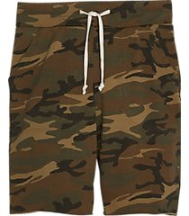 alternative apparel victory modern fit printed burnout french terry shorts green camo