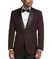 egara burgundy formal dinner jacket