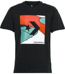 colorblocked court tee black t-shirts short-sleeved svart converse