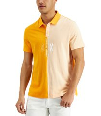 ax armani exchange men's regular-fit colorblocked logo-print polo shirt, created for macy's