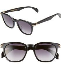 men's rag & bone 50mm sunglasses - black