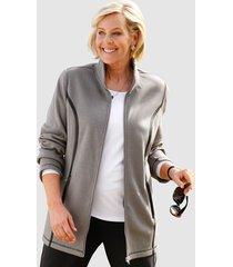 fleece vest m. collection grijs::antraciet