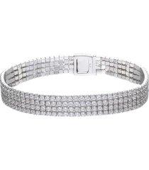 bracciale in argento e zirconi a fascia per donna