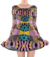 ragdoll patchwork sally longsleeve skater dress