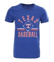 majestic texas rangers men's vintage ticket stubs t-shirt