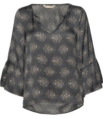my medallion blouse blouse lange mouwen grijs odd molly