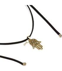 colar key design lais black gold feminino
