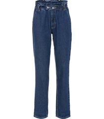jeans paper bag in cotone biologico (blu) - rainbow