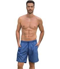 masculino swimwear pantaloneta azul leonisa 505032