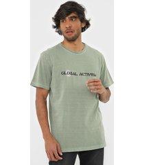 camiseta osklen global activisim verde