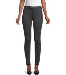 vince women's skinny ankle pants - black - size 4