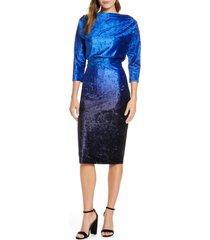 women's mark + james by badgley mischka ombre velvet blouson dress