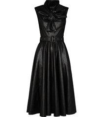 anouki bow tie midi dress - black