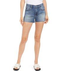women's ag hailey cutoff denim shorts, size 30 - blue