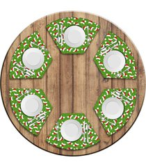 jogo americano love decor para mesa redonda wevans multi tocas natal kit com 6 pçs