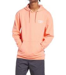 men's vans men's full patched ii logo hoodie, size large - pink