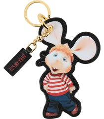 alberta ferretti key chain alberta ferretti keychain in leather in the shape of topo gigio
