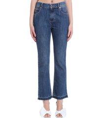 red valentino jeans in blue denim